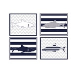 shark nursery, shark wall art, shark prints, nautical nursery, shark wall decor, boy wall art, boy room decor, kid's shark room