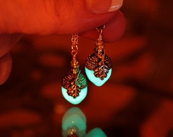 GLOW in the DARK ACORN Pendant