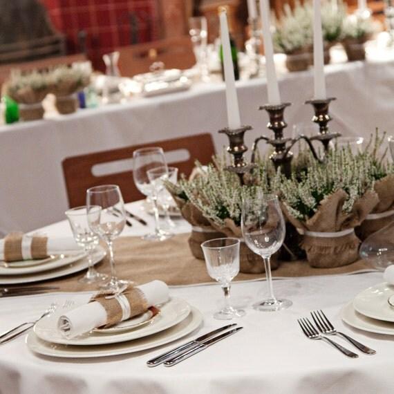 Hnliche artikel wie jute hochzeit pflanze wrap gro e for Marmeladenglas deko