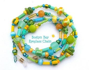 BOSTYN BAY, Eyeglass Chain, Lampwork, Fresh, Colourful, Australian Made