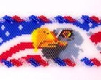 American Flag and Eagle cuff bracelet