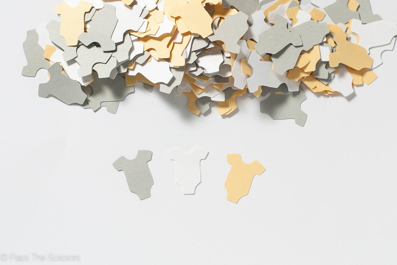 Baby shower decoration baby shower confetti yellow and for Baby confetti decoration