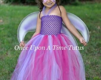 butterfly princess tutu dress halloween costume girls size 6 12 18 months 2t 3t