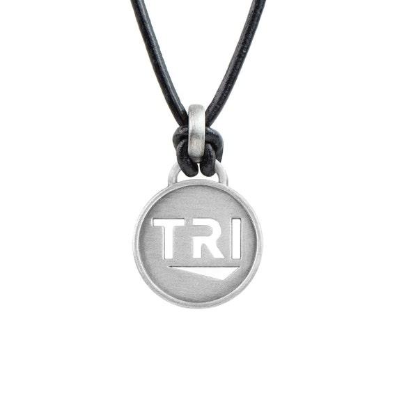 TRI Triathlon Necklace - Black or Pink, Triathlon Jewelry, Gift for Triathletes, Triathlon Gifts, Triathlon Inspiration, Tri Jewelry