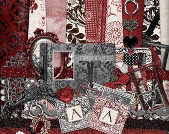 Winter Rouge - Digital Scrapbooking Kit