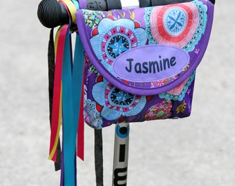 Personalised Purple Haze Print Kid's Handlebar Bag