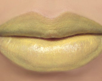 "Vegan Yellow Lipstick - ""Daisy"" (light yellow lipstick) natural lip tint, balm, lip colour mineral lipstick"