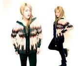 70s Zip Up Sweater M/Lrg