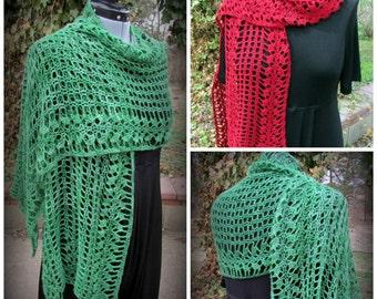 Pattern only - Maureen O'  Shawl pattern crochet lace pattern shawlette rectangle scarf