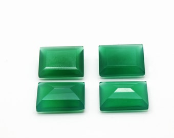 GCF-1041 - Green Onyx Gemstone - 13x18mm Rectangular - Calibrated Gemstone - AA Quality - 1 Pc