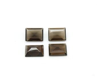 GCF-1116 - Smoky Quartz Gemstone - Rectangular 16x20mm - Calibrated Gemstone - AA Quality - 1 Pc