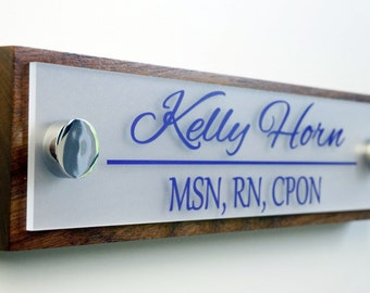 Office Door Name Plate Personalized Office Accessories and Wood Door Sign Professional Gift 10 x 2.5 & Door name plate | Etsy pezcame.com