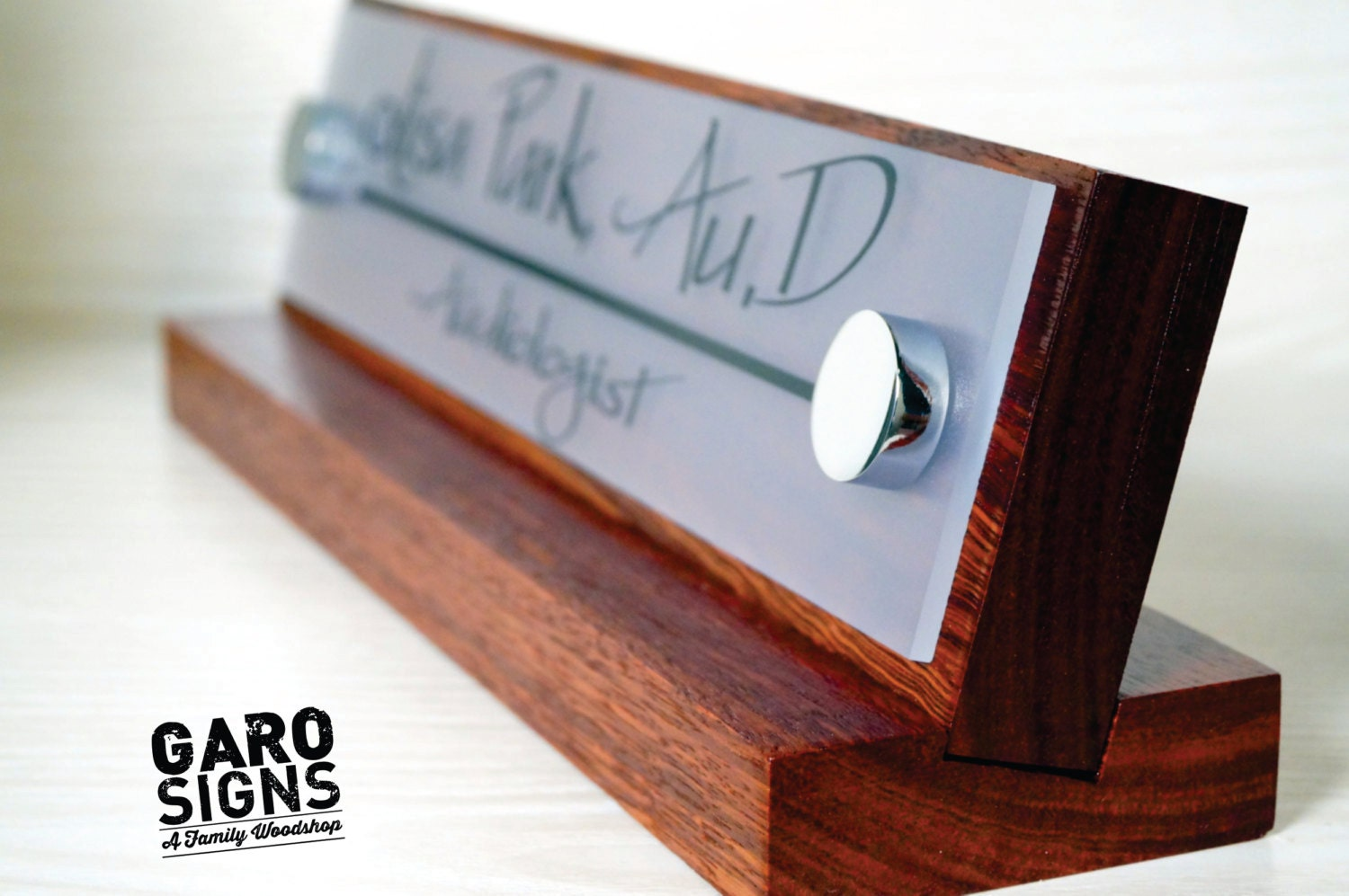 Office Name Plates: Office Name Plate: Personalized Wood Desk Sign And By