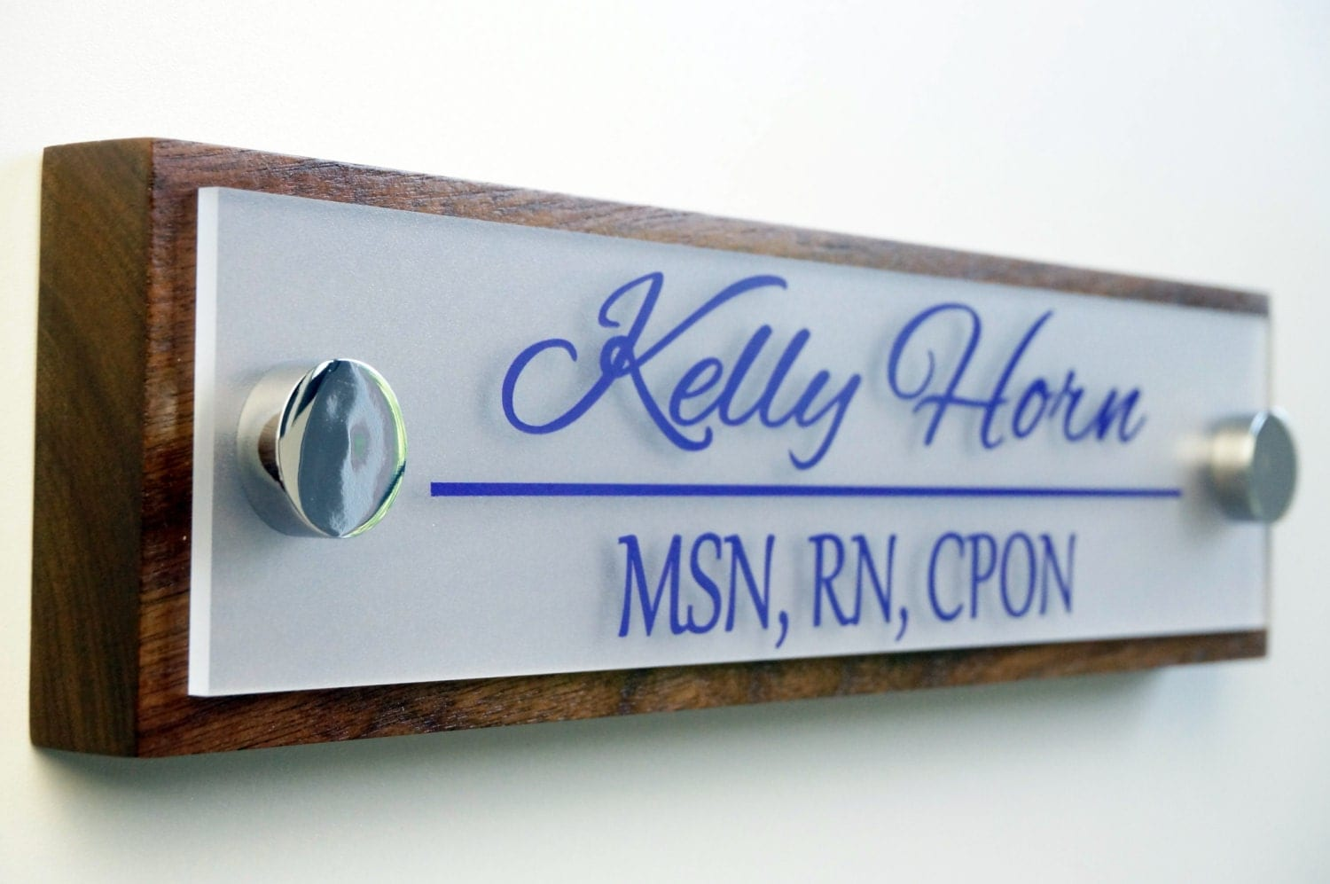 Image gallery office door name plates for Door name signs