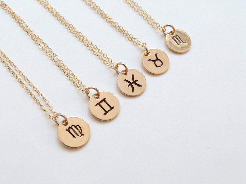 zodiac necklace personalized jewelry zodiac jewelry bridesmaid