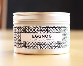Eggnog 8oz Soy Candle with Wood Wick