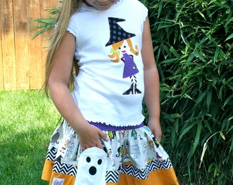 Halloween Witch Shirt and Skirt