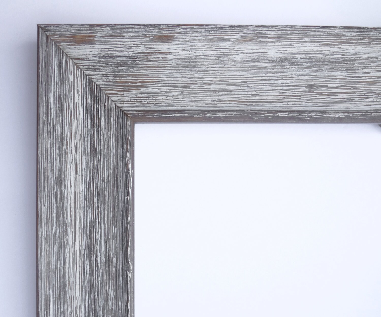 Custom Frame For Any Size Artwork Rustic Wood White Wash 1