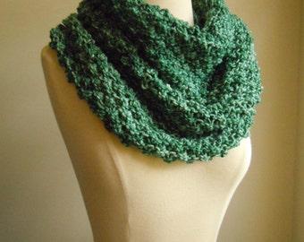 Merino wool high cowl - Green