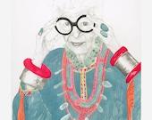 Giclee Print - Iris Apfel, Geriatric Starlet