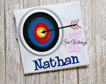 Archery shirt- Bow and arrow shirt- Archery sports Shirt- Boy Archery Shirt- Girl Archery Shirt- Arrow Applique Shirt- Monogram- Custom