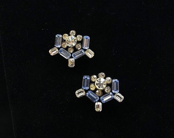 Blue and Clear Rhinestone Scatter Pins