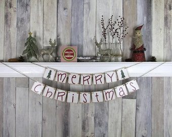 Christmas Decoration - Christmas Photo Prop - Christmas Banner - Merry Christmas - Christmas Garland - Christmas Bunting