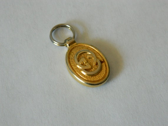 Vintage 1980s Gucci Purse Zipper Pull Charm By