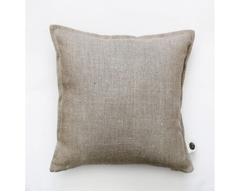 Throw pillow - linen pillow - natural linen pillow cover - decorative pillow cover - cushion case 0001