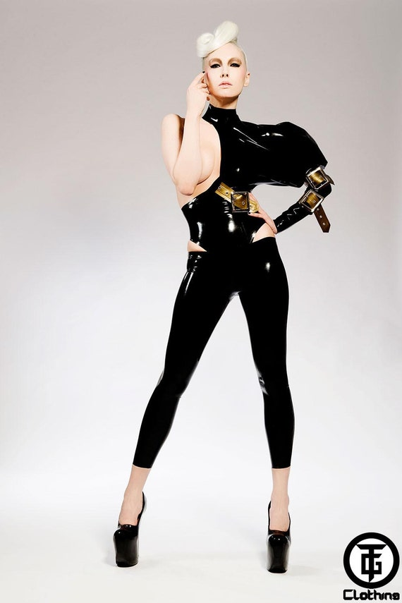 TG VETIS Low Waist Latex Rubber Leggings by HOUSEofHARLOT on Etsy