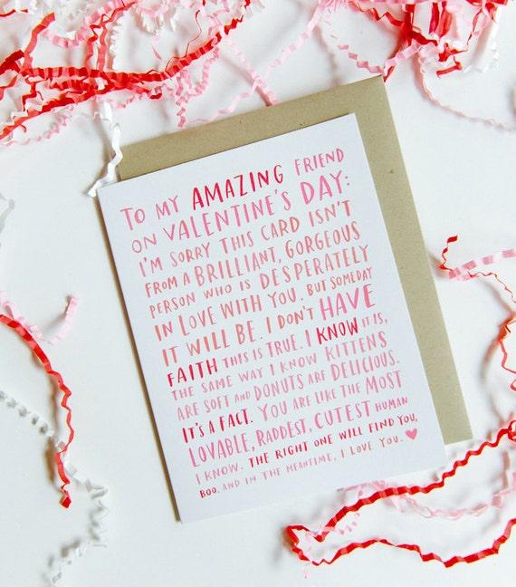 Valentine For My Amazing Single Friend Friend Valentine – Amazing Valentines Cards