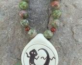 SALE Lady Lizard Necklace