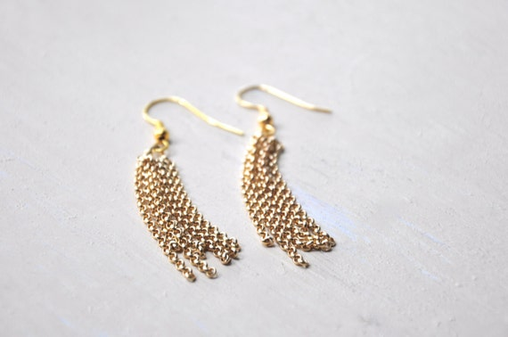 Tassel Earrings Gold or Silver
