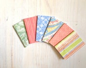 Notebooks: 6 Tiny Journal Set, Blue, Red, Wedding, Favors, Small Notebooks, For Her, For Him, Gift, Unique, Mini Journals, Party Favors T035