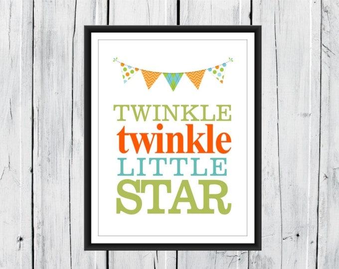 Nursery Decor - Twinkle Twinkle Little Star - Custom Colors
