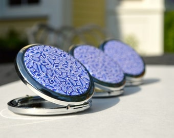 Orchid Polymer Clay Mirrors