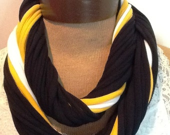 Pittsburgh Steelers  Football - T Shirt Scarf  Infinity Scarf Belt -