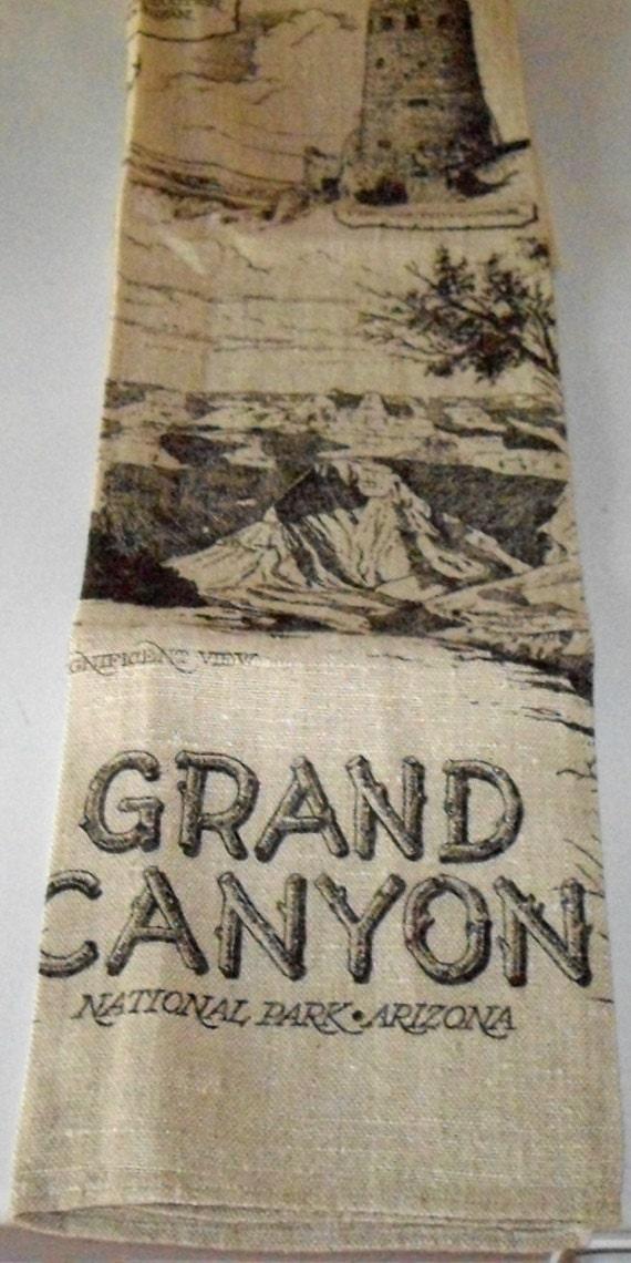 Vintage Arizona Hand Painted Pottery Grand Canyan