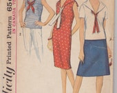 1964 Pattern - Dress - Blouse - Skirt - Simplicity 5807 - Vintage Sewing - Mid Century Clothing Style