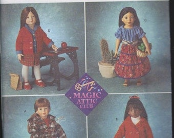 Doll Clothes Patterns - Magic Attic Club  for 18 inch Doll from Simplicity Crafts - Number 8451