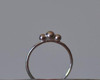 triple nugget stacking ring