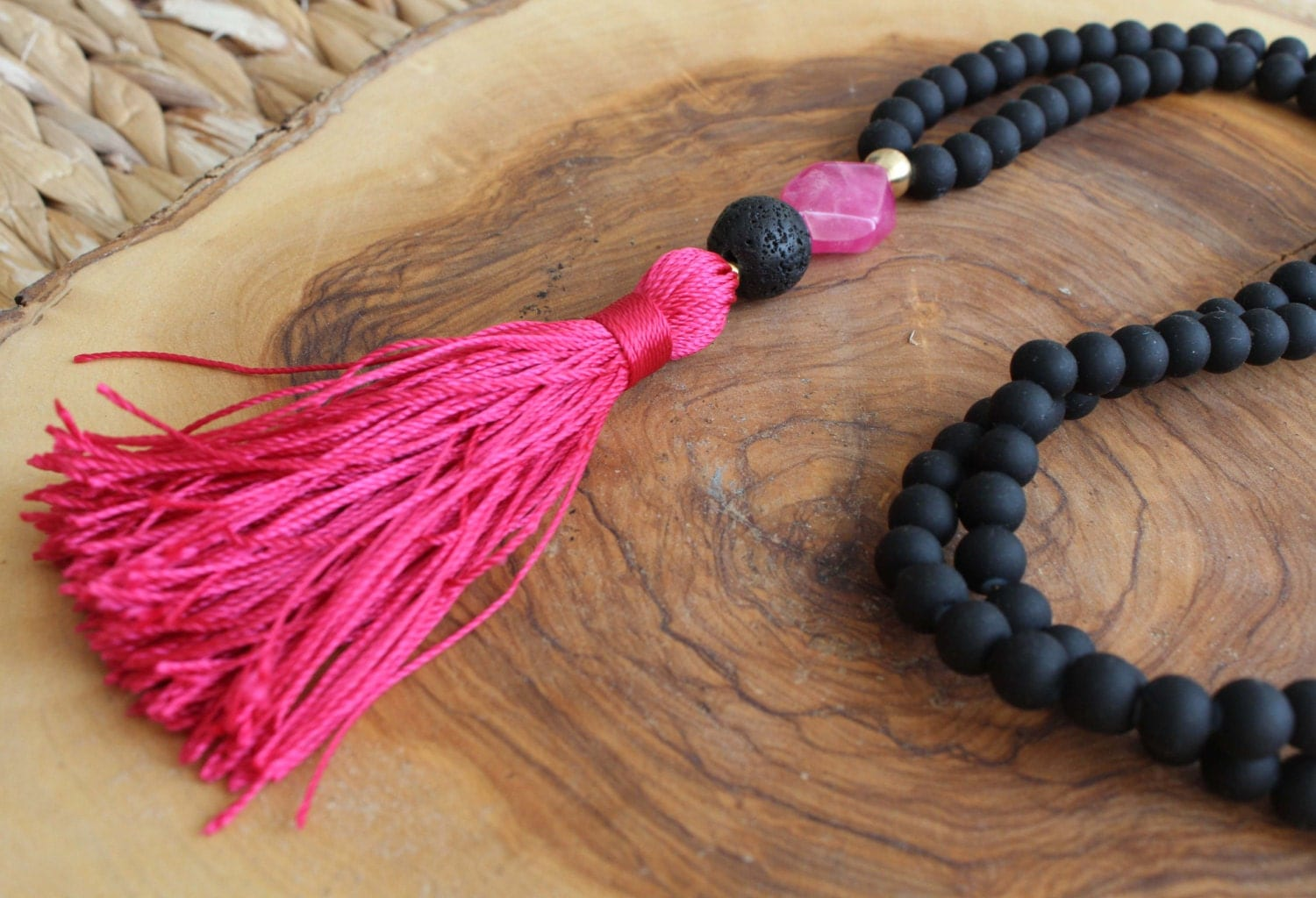 black beaded tassel necklace long beaded necklace deep. Black Bedroom Furniture Sets. Home Design Ideas