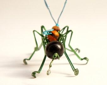 ant sculpture · wire sculpture · decorative ant · ant art · wire insect · wire bug sculpture · wire ant · kids decor · bug decor · green ant