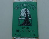Antique Silhouette Brand White Rayon Rick Rack Trim  4 Yards  NOS