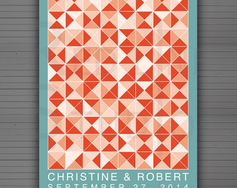 Abstract comb Guest Book Poster - Alternative - Printable