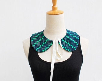 Butterfly Ribbon Detachable Peter Pan Collars, Polka Dots, Silver Collar, Blue Collar, Lace Collar
