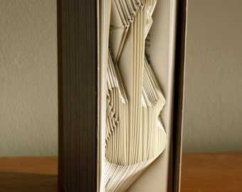 Guitar  Folded book - Musician - Bass - Music Lover Gift - Electric Guitar - Rock Band - Book Art - Present - Song -