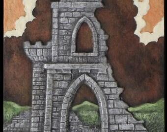 Castle Gate - Cast Paper - Ruins - Ancient - fantasy