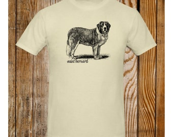 St Bernard T-Shirt Vintage Illustration Saint Bernard