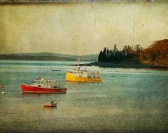 Frenchmen's Bay Fishing Boats, Photography, Maine Photography, Landscape Photography